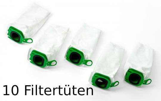 Doppelpack 2x5 Filtertüten passend für Vorwerk Kobold VB100 (EBB100/SPB100) Akkusauger