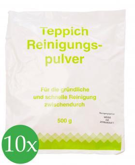 10er Vorratspack Teppichreinigungspulver geeignet für Vorwerk Teppichreinigung