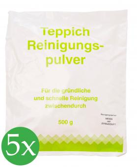 5er Vorratspack Teppichreinigungspulver geeignet für Vorwerk Teppichreinigung