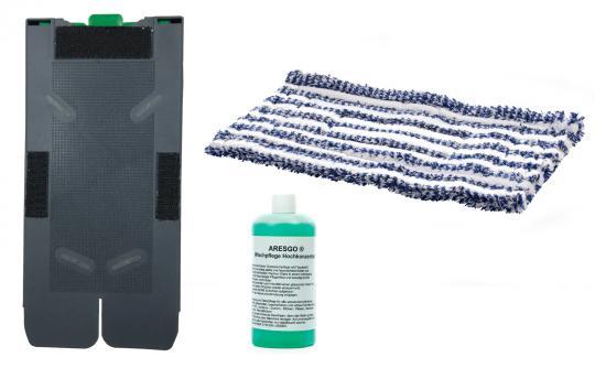 Tuchträgerplatte, Wischpflege und 4 Wischtücher passend zu Saugwischer Vorwerk SP520 und SP530
